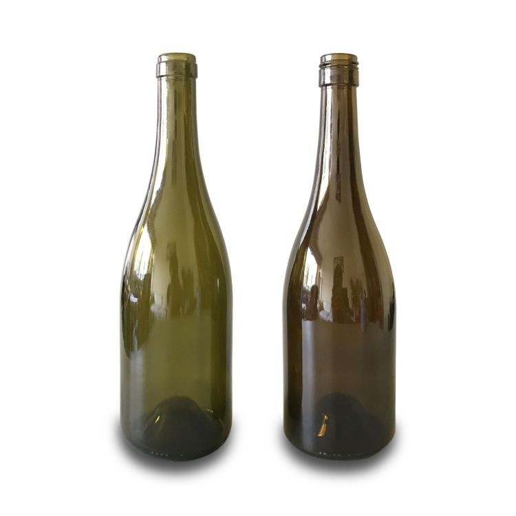 750ml green wine bottle burgundy