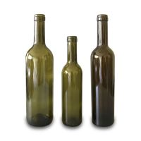 750ml & 500ml & 375ml green bordeaux wine bottle