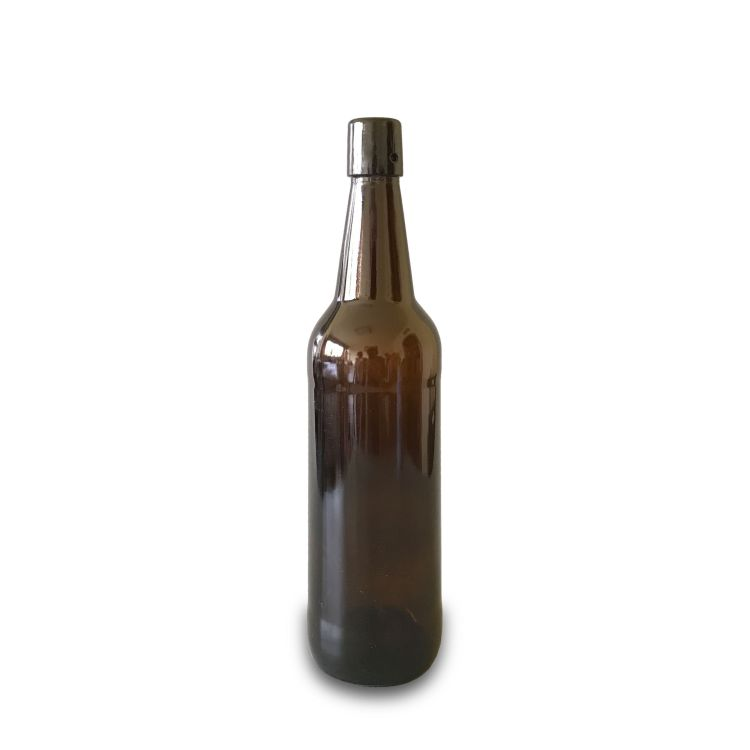 750ml amber beer bottles with flip top