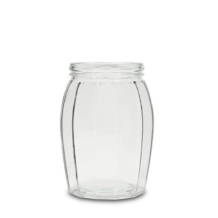 1200ml Glass Barrel Storage Jar With Clamp Lid